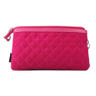时尚新款女包 菱格经典三层隔袋化妆包 手包