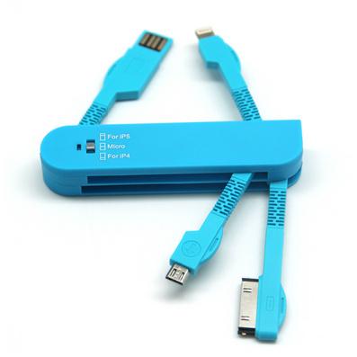 iphone5伸縮線 三合一數據線 多功能拉伸線
