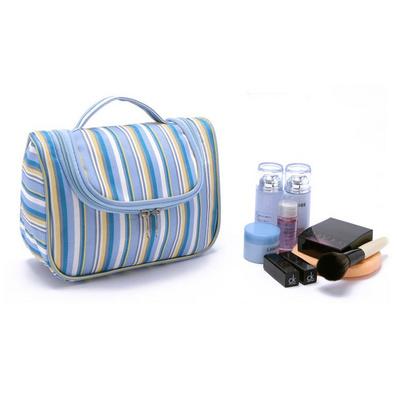藍白條紋洗漱包 便攜手提旅行洗漱袋收納包