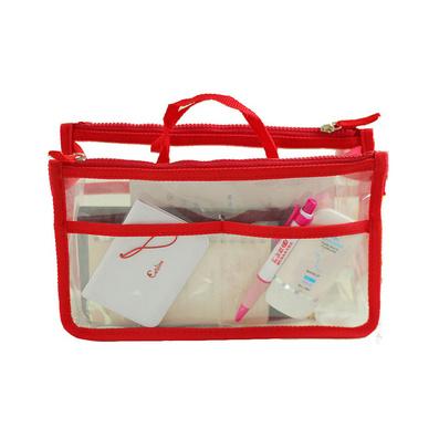 韩版透明手提旅行收纳包 双拉链包中包 洗漱包