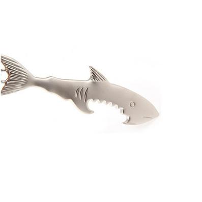 創意金屬鑰匙扣 鯊魚開瓶器鑰匙扣 個性鑰匙扣