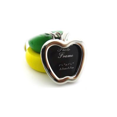 金屬質感合金相框鑰匙扣 創意蘋果形狀鑰匙鏈小禮品可印logo