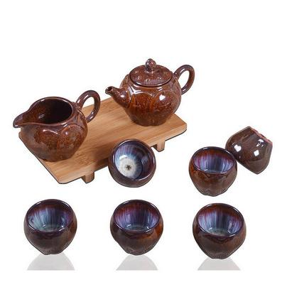 窯變釉鈞窯高檔茶具套裝 可定制禮品茶具 茶具