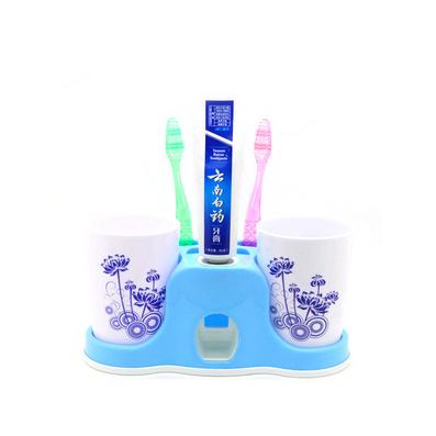 洗漱套裝牙刷架創意吸盤自動擠牙膏器帶情侶刷牙杯漱口杯