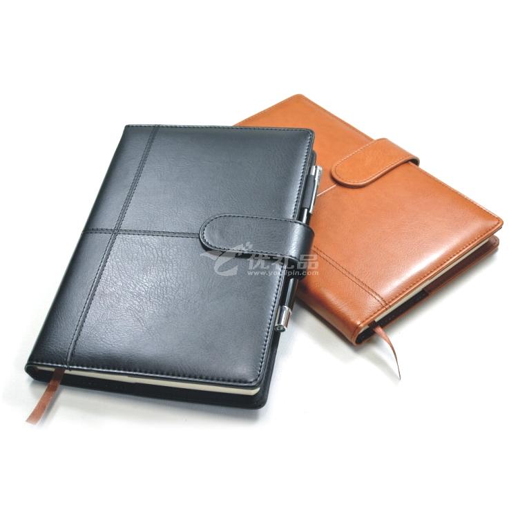 十字線帶扣A5中號商務記事本 工作筆記本子 可訂定制公司LOGO