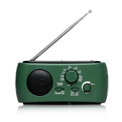 太陽能手搖發電手電筒 汽車戶外用品裝備 老年人用收音機