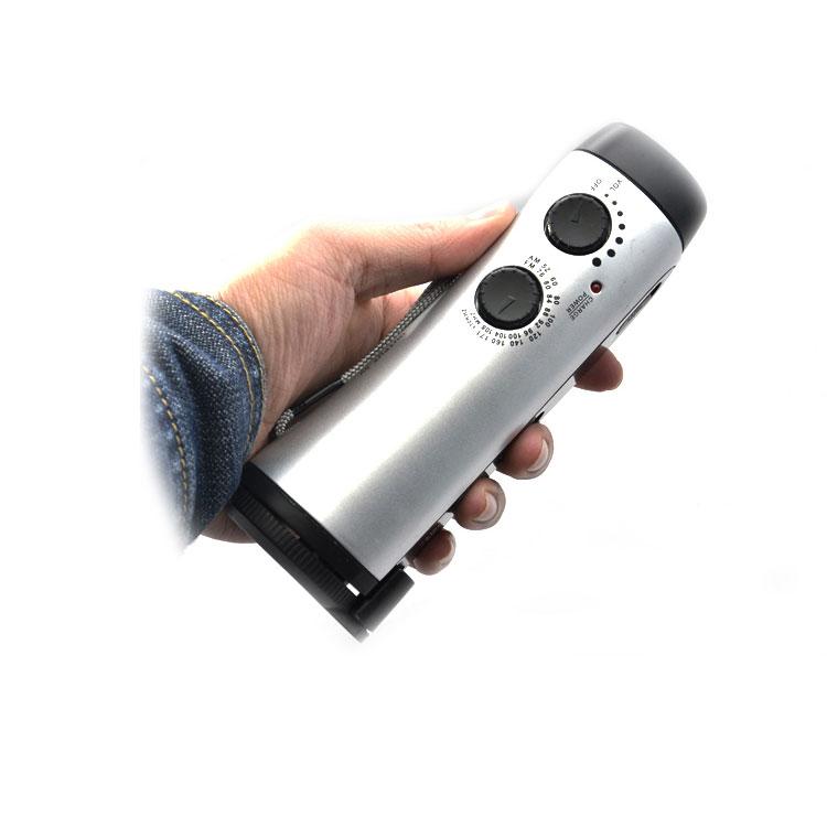 手动充电收音机  手摇式充电器 LED应急照明灯