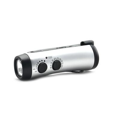 手動充電收音機  手搖式充電器 LED應急照明燈
