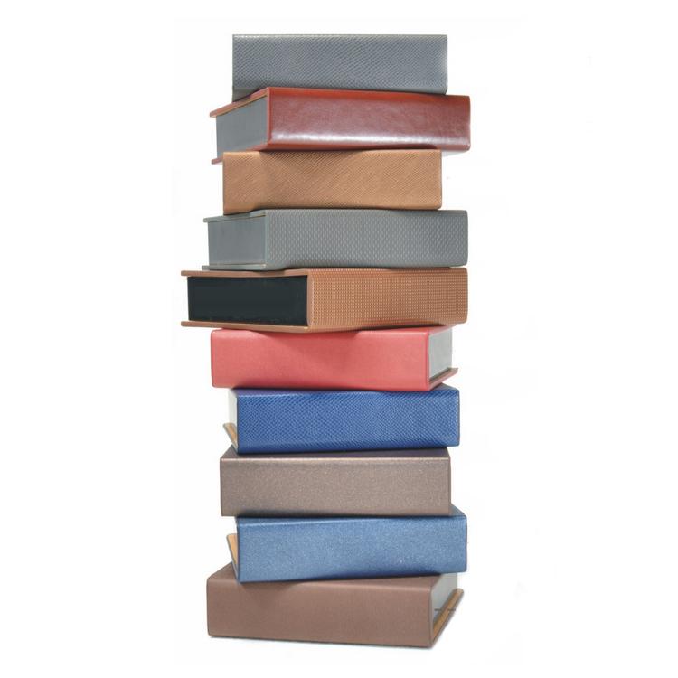 高档变色PU皮 方形便签盒 180张纸芯本 个性定制 印企业公司LOGO