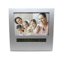 简约LED广告相框合金电子钟相框定制