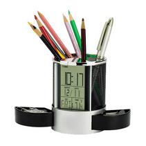 优质办公笔筒礼品 多功能金属笔筒万年历笔筒定制可印LOGO