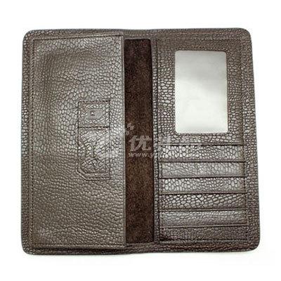進口蜥蜴紋真皮長款錢包2折多卡位錢夾商務禮品定制