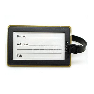 新款卡通硅膠卡套定制便攜軟行李牌定制企業禮品印刷LOGO