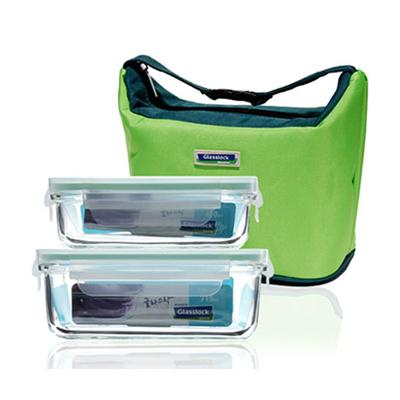 三光云彩glasslock玻璃保鮮盒密封長方形飯盒便當盒定制