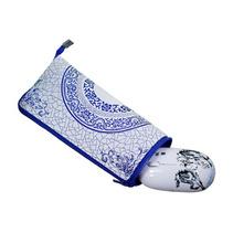多功能絲綢鼠標墊中國風特色云錦真絲鼠標墊定制