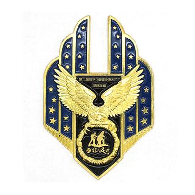 精致金屬徽章定做優質鋅合金烤漆徽章定制禮品定做