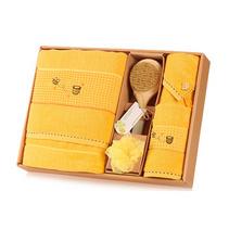 潔麗雅浴巾禮盒蜜語純棉浴巾面巾擦手巾禮盒