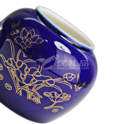 小巧中国风陶瓷茶叶罐100ml茶叶密封罐茶具定制
