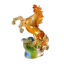 高档琉璃摆件马定制琉璃礼品定制企业礼品可印LOGO