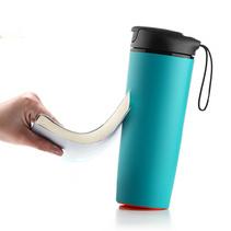 創意不倒杯隔熱水杯禮品 便攜隨手杯保溫杯定制logo