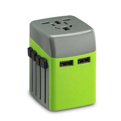 萬能旅行轉換插座雙USB穩定兼容轉換插頭定制LOGO