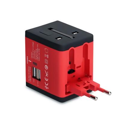 万能转换插头定制logo 双USB电源充电器全球通插座转换器