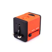 萬能轉換插頭定制logo 雙USB電源充電器全球通插座轉換器