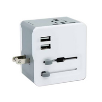 万能转换插头座 双USB全球通多功能转换器