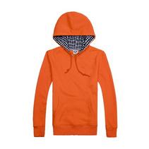 360gCVC(65%棉 35%纖維)格子布帽衫