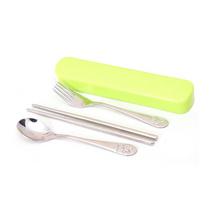 不銹鋼餐具套裝定制不銹鋼筷子勺子叉子套裝餐具三件套定制
