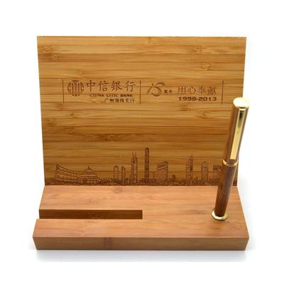 天然竹木桌面摆件定制 竹木办公用品定做
