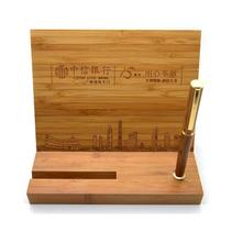 天然竹木桌面擺件定制 竹木辦公用品定做