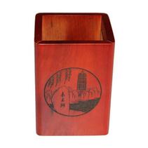 高檔辦公木質筆筒南美黃檀紅木筆筒商務禮品定制