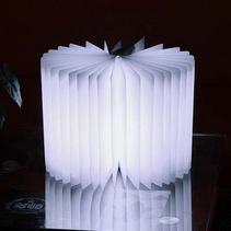 LED折疊書本燈創意小夜燈可折書本燈歐式木質創意折紙翻頁小夜燈