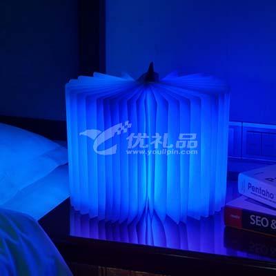 LED折叠书本灯创意小夜灯可折书本灯欧式木质创意折纸翻页小夜灯