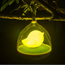 创意梦幻鸟笼灯 usb充电家居LED灯 节能创意led触碰调光小夜灯
