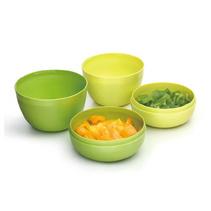 创意环保碗碟4件组合餐具套装便携收纳碗