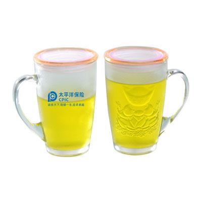 年年有余水晶杯玻璃杯 杯子 茶杯 水杯定制