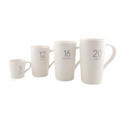 星巴克时尚数字水杯 带盖陶瓷水杯定制