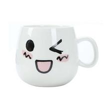 創意賣萌表情杯 陶瓷馬克杯 牛奶早餐杯定制