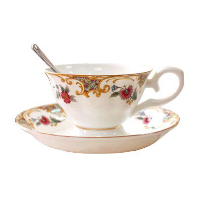 骨瓷咖啡2杯2碟套裝 英式咖啡杯下午紅茶杯|咖啡杯骨瓷 創意咖啡杯碟