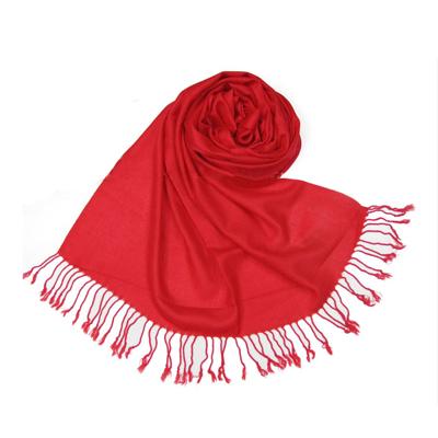仿羊絨單色圍巾批發 純色仿羊絨圍巾披肩定制