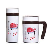 雀躍櫻桃保溫杯套裝禮盒 不銹鋼辦公杯保溫杯定制