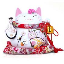 招财猫陶瓷工艺品 陶瓷摆件 创意家居