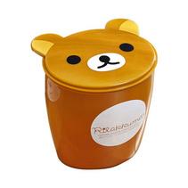可爱小熊桌面垃圾桶 翻盖迷你垃圾筒 车载垃圾桶 废纸收纳盒