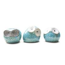 可愛胖墩貓頭鷹陶瓷創意家居擺件 趣味陶藝儲蓄罐