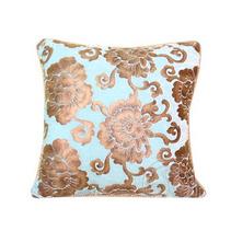歐式奢華天鵝絨燙金絨藍 沙發靠墊套 抱枕定制