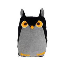 創意貓頭鷹 加厚加大靠墊毯 可愛天鵝絨 抱枕被子兩用被定制