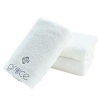 洁丽雅毛巾正品纯棉柔软白色 强吸水舒适