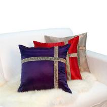 新款三色歐式古典綢緞抱枕批發 腰枕靠墊定制